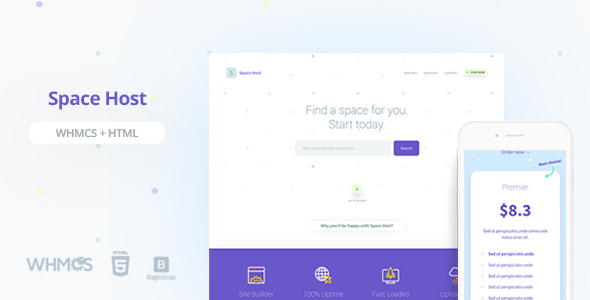 Space Host WHMCS & HTML Landing Page - Hosting Technology