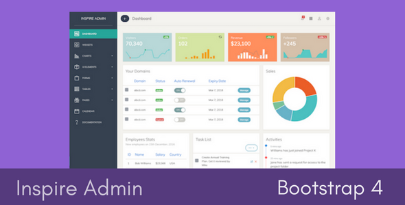 Inspire – Bootstrap 4 Admin Template