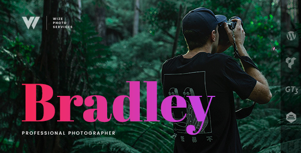 Photography Bradley Services WordPress Theme - WizePhoto