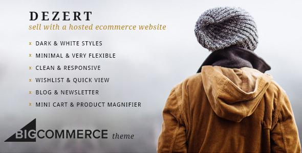 Dezert BigCommerce Shopping Theme - BigCommerce eCommerce