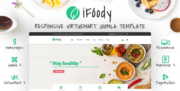 Vina iFoody – Responsive VirtueMart Joomla Template