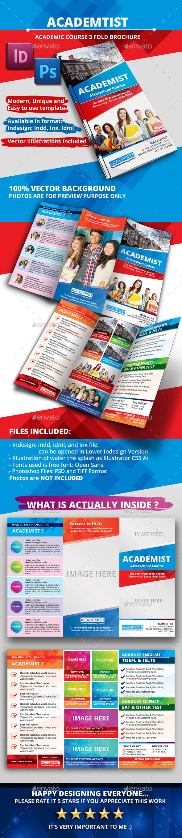 Academic Education A4 Tri fold Brochure - Informational Brochures