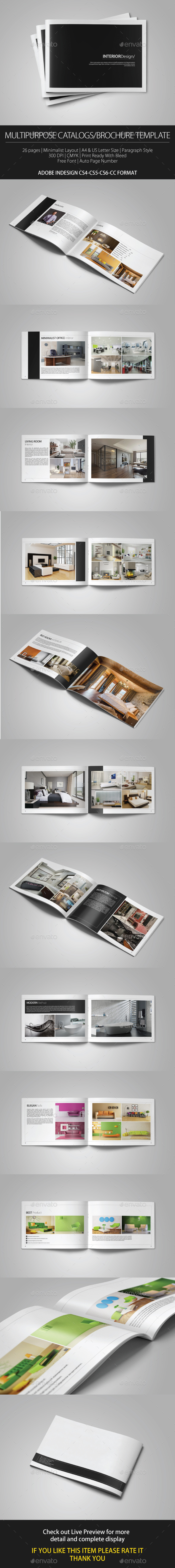 Multipurpose Portfolio Brochure Cataloge Template - Brochures Print Templates