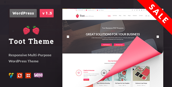Toot | Responsive Multi-Purpose WordPress Theme