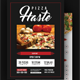 Food or Pizza Menu Flyer