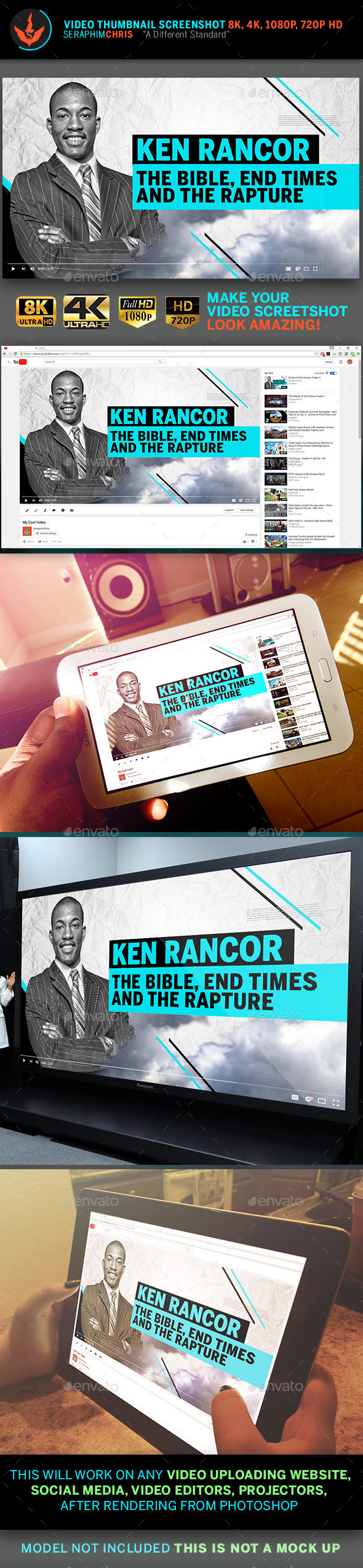 Sermon Title YouTube Video Thumbnail Screenshot Template - YouTube Social Media