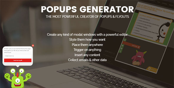 Popups Generator - powerful WordPress plugin for generate of popups & flyouts block - CodeCanyon Item for Sale