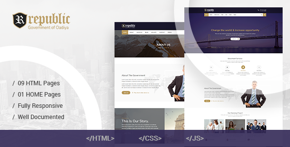 Republic – Responsive Government HTML Template