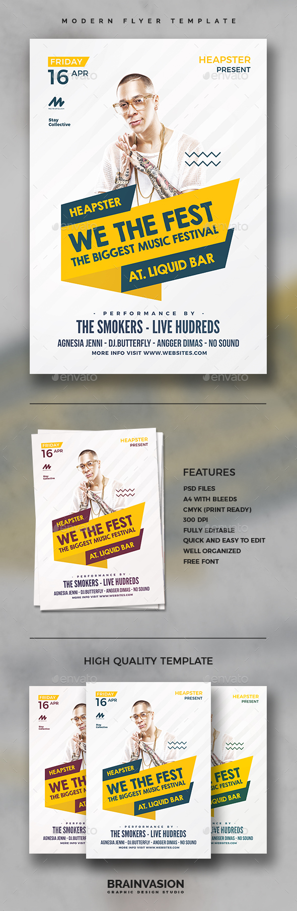 Modern Flyer Template Vol.04 - Clubs & Parties Events