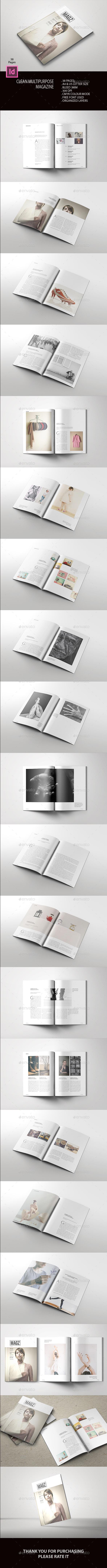 Clean Multipurpose Magazine - Magazines Print Templates