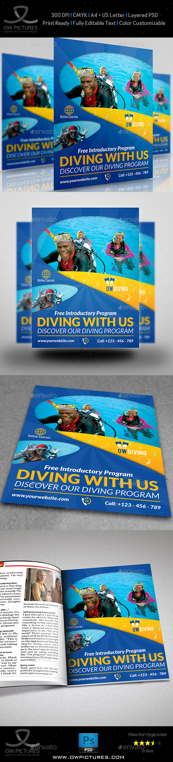 Diving Flyer Template Vol.2 - Sports Events