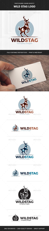 Wild Stag Logo Template - Animals Logo Templates