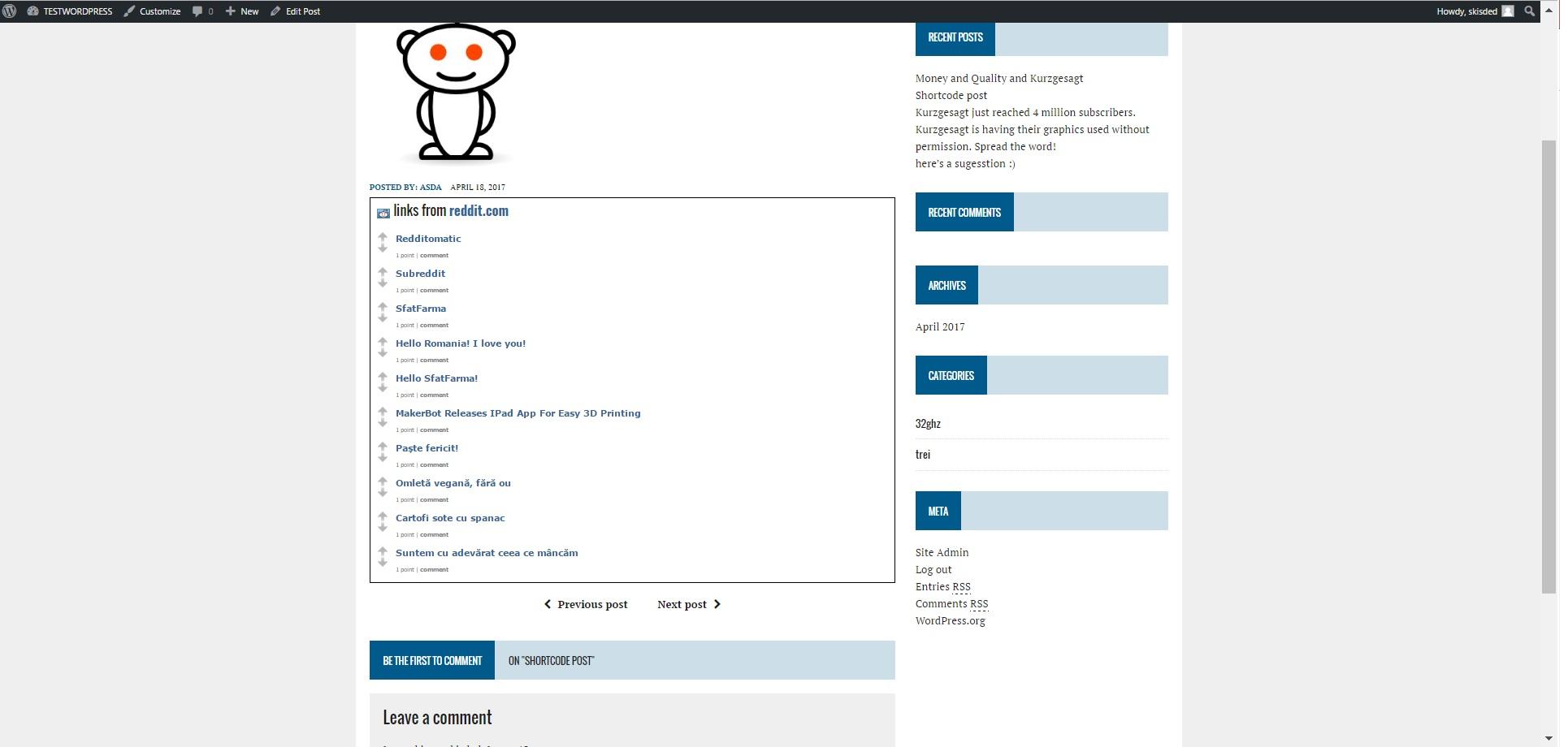 Redditomatic Automatic Post Generator and Reddit Auto Poster Plugin for  WordPress