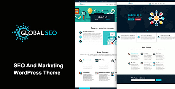 GLOBAL SEO - Marketing And SEO Responsive WordPress Theme