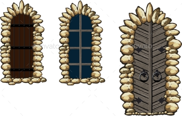 Medieval Windows and Doors - Buildings Objects
