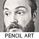 Pencil Sketch Oil Paint