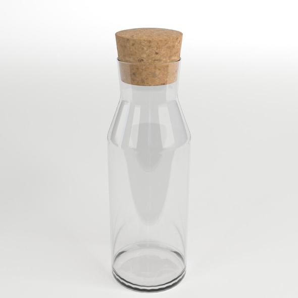 Glass Caraffe with Cork Top - 3DOcean Item for Sale