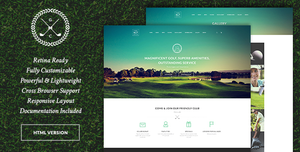 N7 | Golf Club, Sports & Events Site Template - Entertainment Site Templates