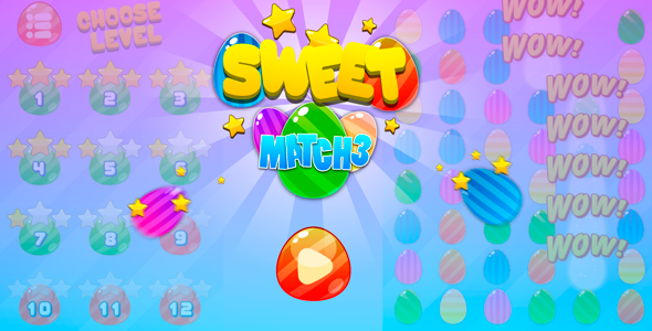 Sweet match3 - HTML5 game - CodeCanyon Item for Sale