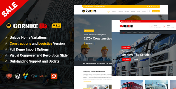 Construction WordPress Theme - Business Corporate