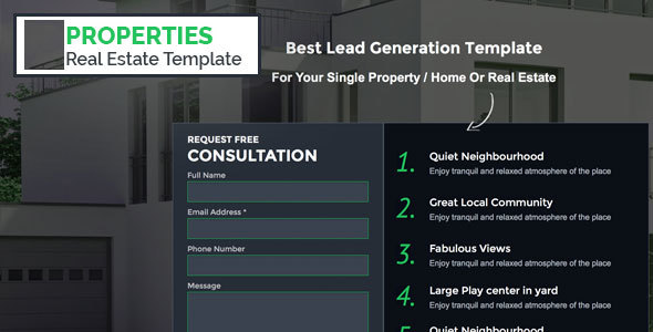 Ex-Properties Unbounce Real Estate Template