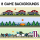 8 Game Backgrounds Set 11 - GraphicRiver Item for Sale