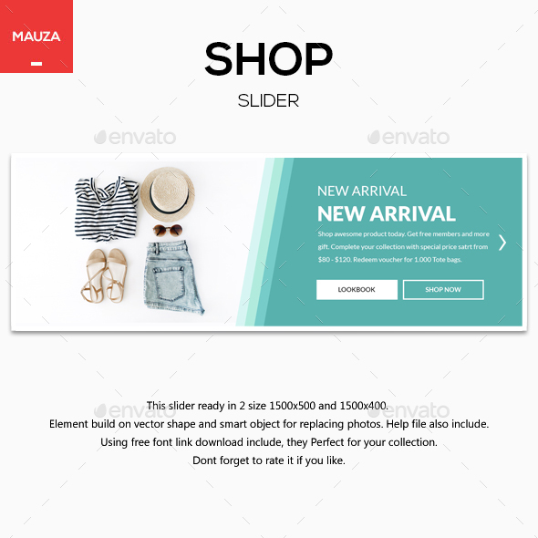 Shop Slider - Sliders & Features Web Elements