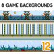 8 Game Backgrounds Set 12 - GraphicRiver Item for Sale