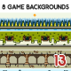 8 Game Backgrounds Set 13 - GraphicRiver Item for Sale