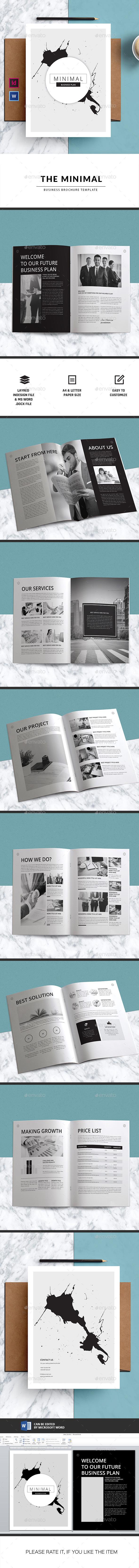 MINIMAL | Business Brochure-Indesign Template - Corporate Brochures