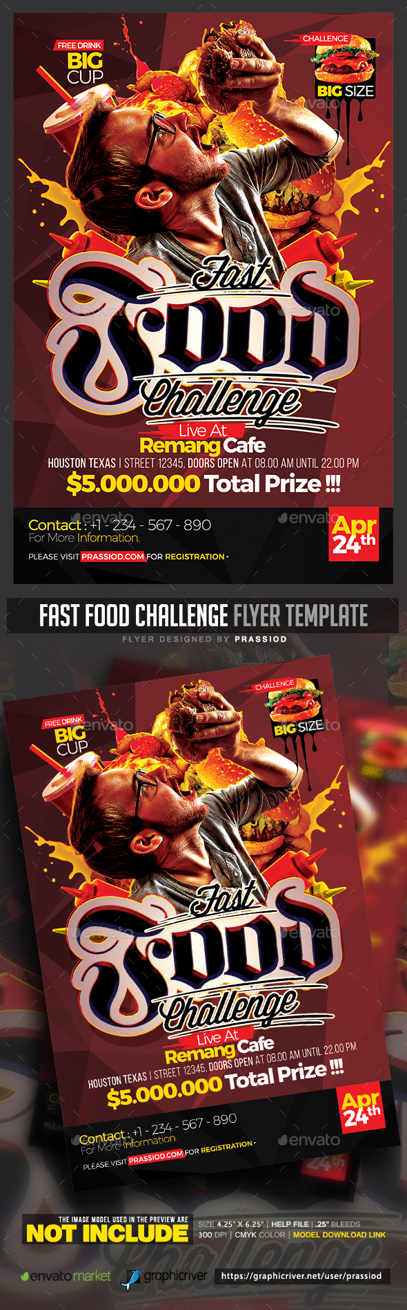 Fast Food Challenge Flyer Template