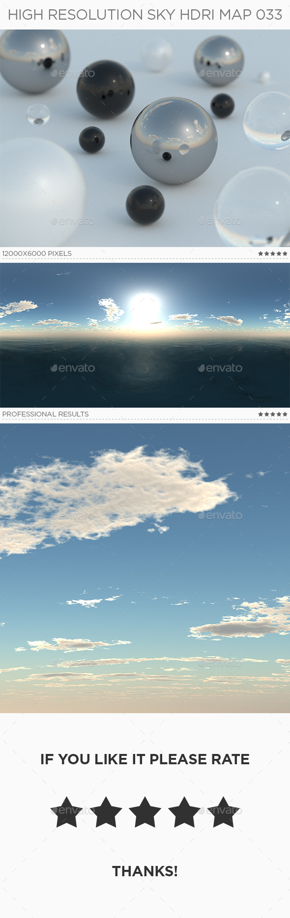 High Resolution Sky HDRi Map 033 - 3DOcean Item for Sale