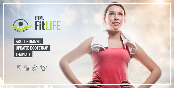 FitLife professional html template - Health & Beauty Retail