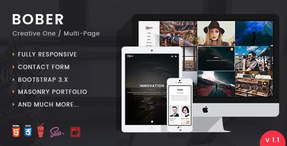 BOBER | Creative Responsive Minimalistic HTML Template - Creative Site Templates