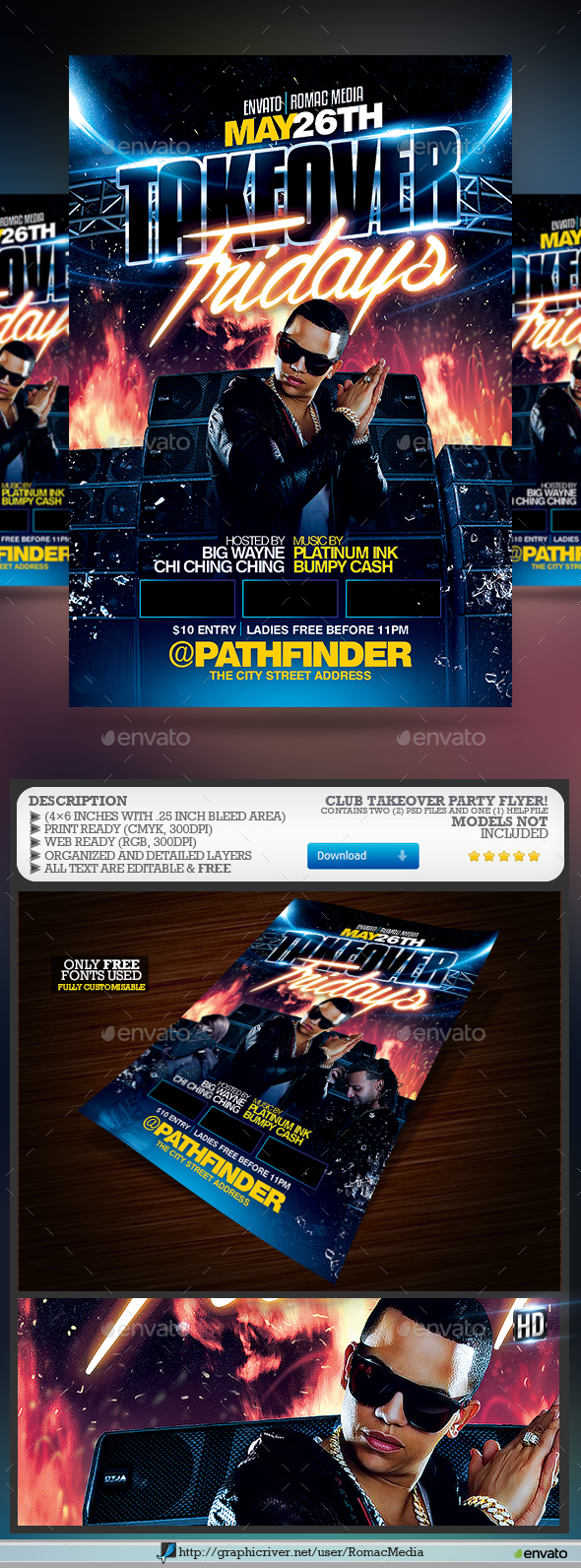 Club Takeover Party Flyer - Clubs & Parties Events