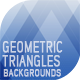 Geometric Triangles Backgrounds - GraphicRiver Item for Sale