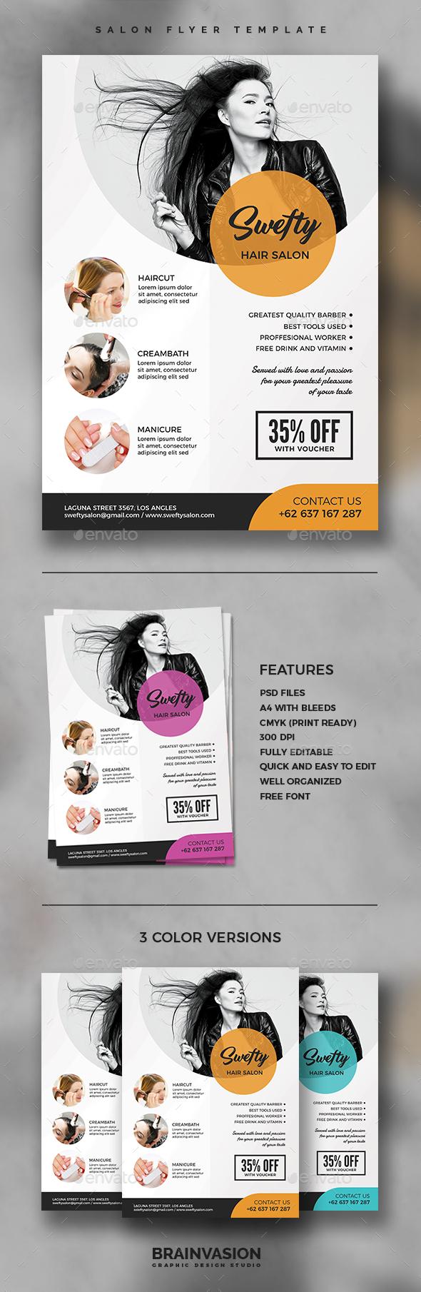 Salon Flyer Template Vol.02 - Corporate Brochures