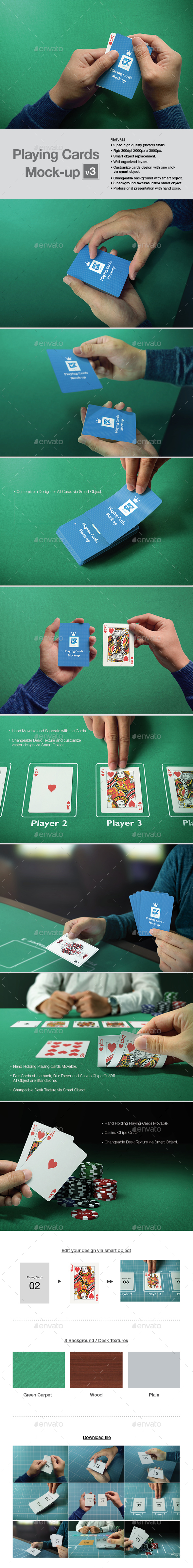 Playing Cards Mock-up v3 - Print Product Mock-Ups