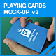 Playing Cards Mock-up v3 - GraphicRiver Item for Sale