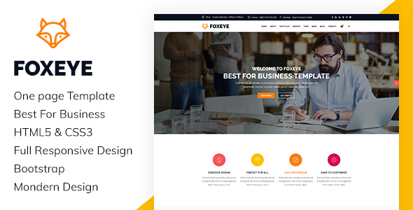 FoxEye- Corporate, Business HTML5 Template - Business Corporate