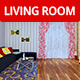 Living Room Interior - 3DOcean Item for Sale