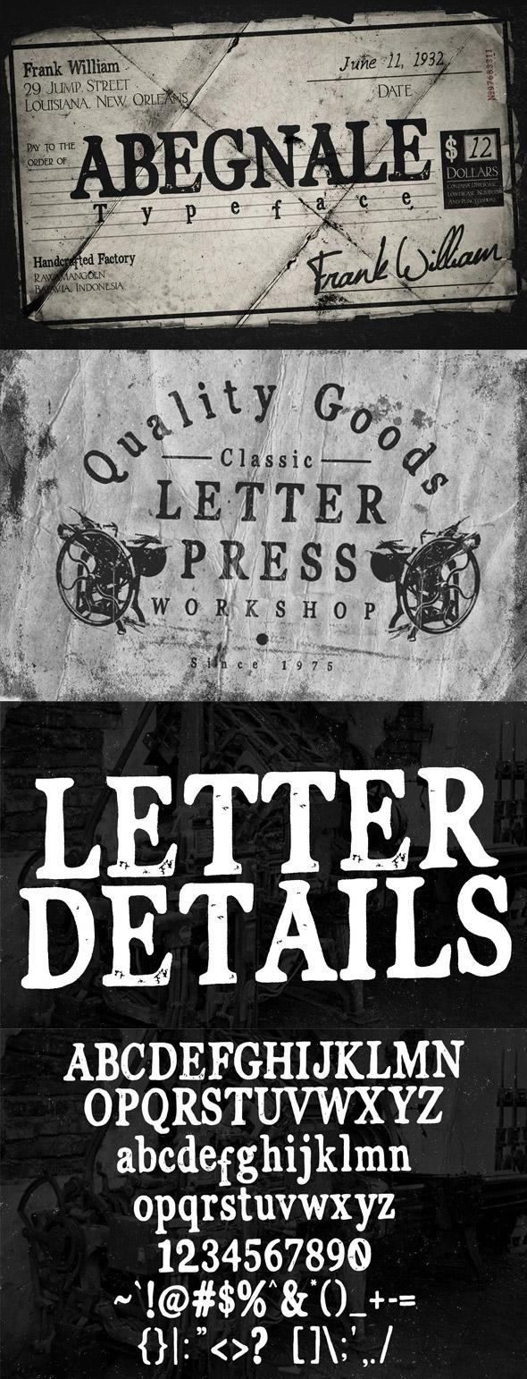 Abegnale vintage classic branding font - Serif Fonts