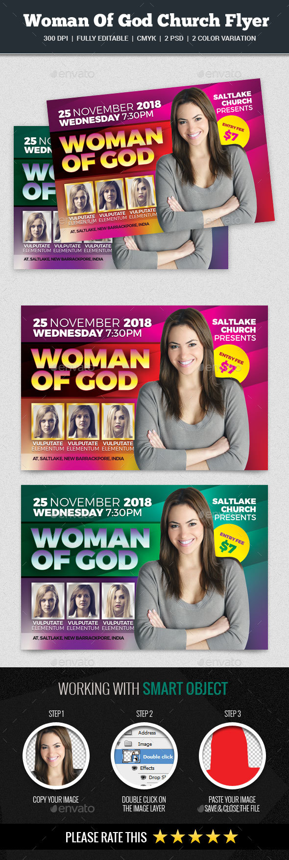 Woman Of God Church Flyer - Church Flyers