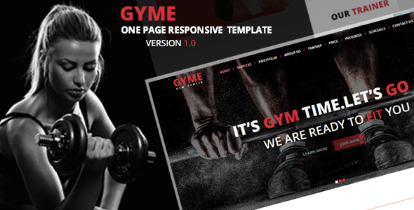 GYME – One Page Responsive Template