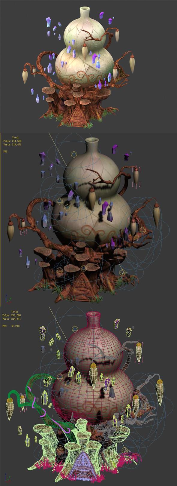 Cartoon sky city - treasure gourd mountain 01 - 3DOcean Item for Sale