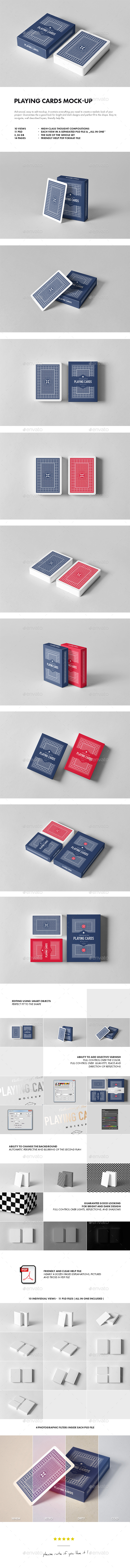 Playing Cards Mock-up - Miscellaneous Packaging