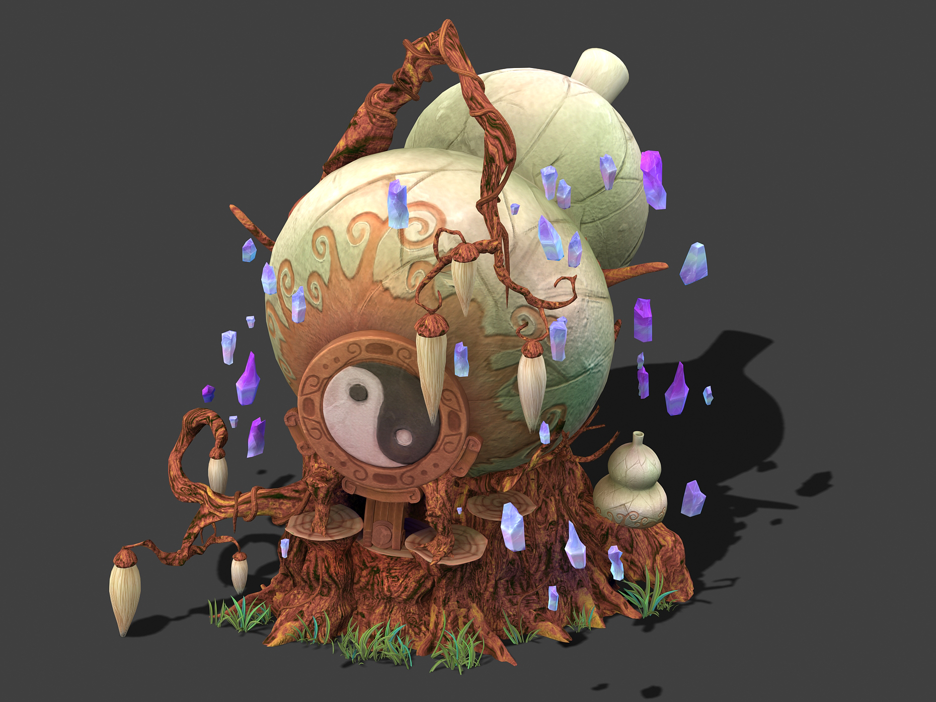 Cartoon sky city - treasure gourd mountain 03