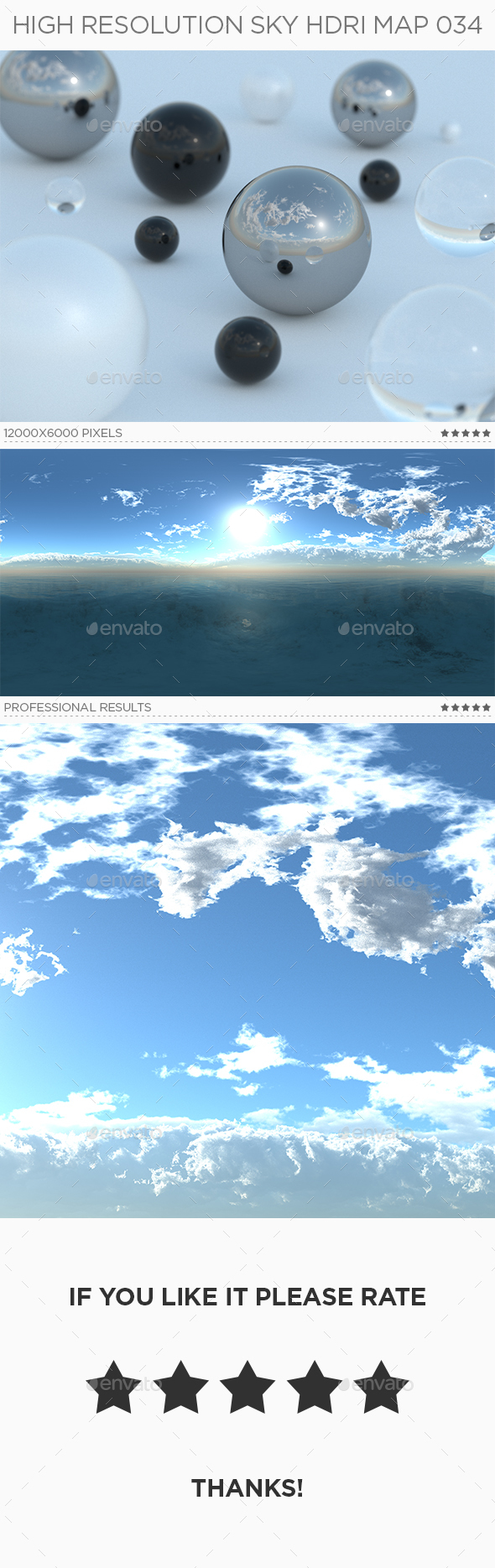 High Resolution Sky HDRi Map 034 - 3DOcean Item for Sale