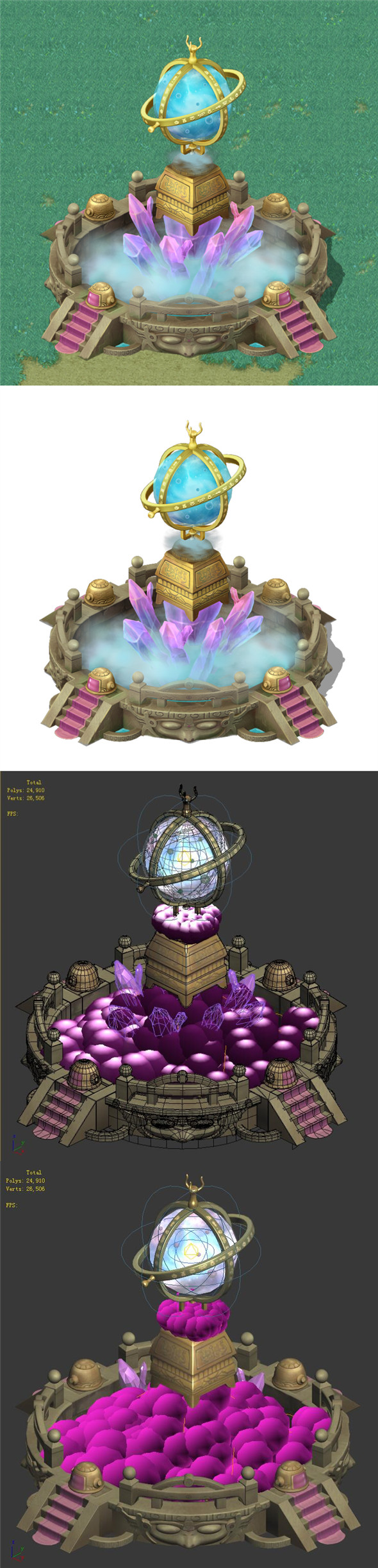 Cartoon Sky City - Crystal Star - 3DOcean Item for Sale