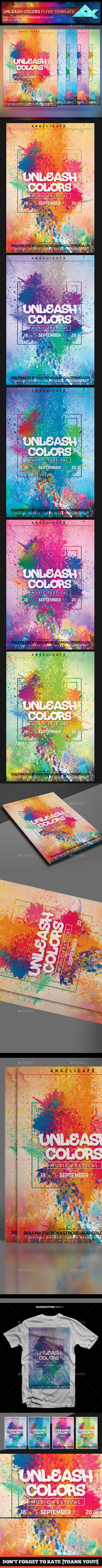 Unleash Colors Flyer Template - Flyers Print Templates